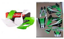 New Kawasaki KX 85 01-13 FLU PTS3 Graphics Sticker Plastic Kit Plastics